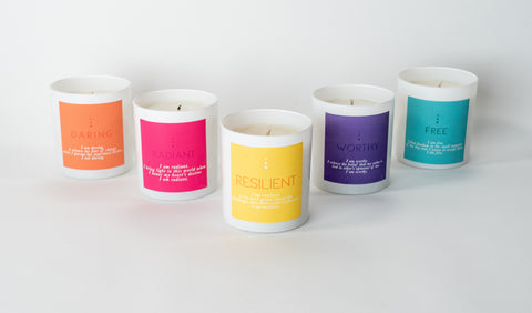 5 candles multiple scents