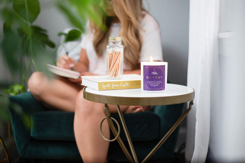 worthy candle and journaling