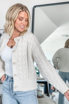 The Link Cable Knit Cardigan Sweater