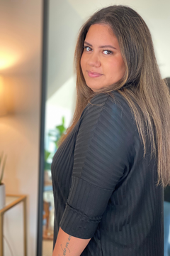 Plus Size Loose Ribbed Top