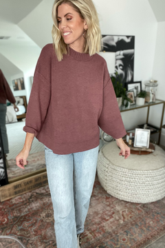 Detailed Neck Sweater Top