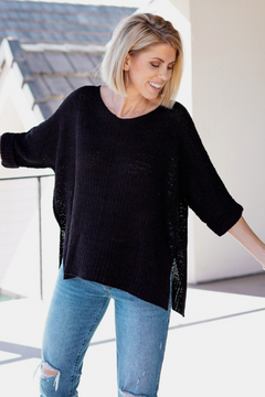 Knit Loose Fit Tunic Top