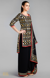 Load image into Gallery viewer, Black Kurti Sharara Set