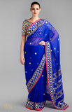Load image into Gallery viewer, Royal Blue Blue Saree Set