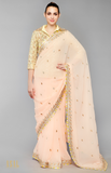 Load image into Gallery viewer, Yellow And Peach Saree Set