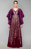 Load image into Gallery viewer, Wine Anarkali Set