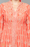Load image into Gallery viewer, Peach Flared Sherwani Set