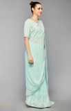 Load image into Gallery viewer, Mint Green Saree Set