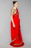 Load image into Gallery viewer, Red Saree Set