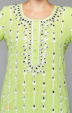 Load image into Gallery viewer, Lime Green Kurta Set