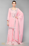 Load image into Gallery viewer, Pink Kurti- Gharara Set