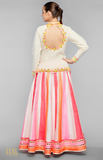 Load image into Gallery viewer, Off-White Shirt With Lehenga