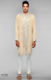 Load image into Gallery viewer, Beige Embroidered Kurta Set