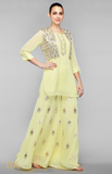 Load image into Gallery viewer, Yellow Kurti-Sharara Set