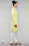 Load image into Gallery viewer, Yellow Kurta Set With Mirror Embroidery