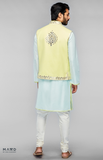 Load image into Gallery viewer, Yellow Embroidered Bundi