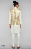 Load image into Gallery viewer, Beige Heavy Embroidered Bundi