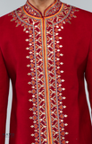 Load image into Gallery viewer, Maroon Sherwani With Resham Work