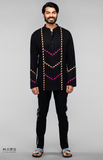 Load image into Gallery viewer, Black Chevron Detail Shirt