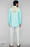 Load image into Gallery viewer, Aqua Embroidered Shirt
