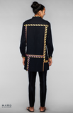 Load image into Gallery viewer, Black Kurta With Neon Jaipuri