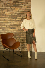 Riga Vegan Leather Skirt