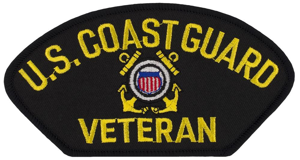 "US Coast Guard Veteran Embroidered Patch 5 3/16"" x 2 5/8"""