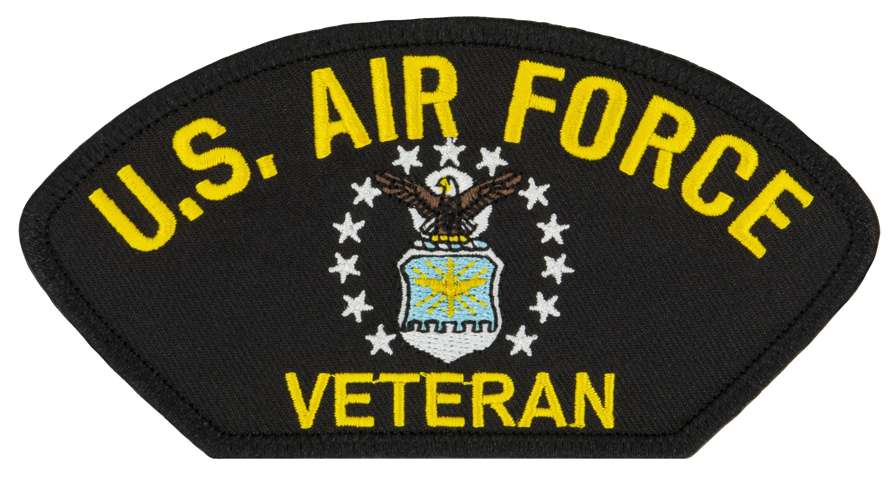 "US Air Force Veteran Embroidered Patch 5 3/16"" x 2 5/8"""