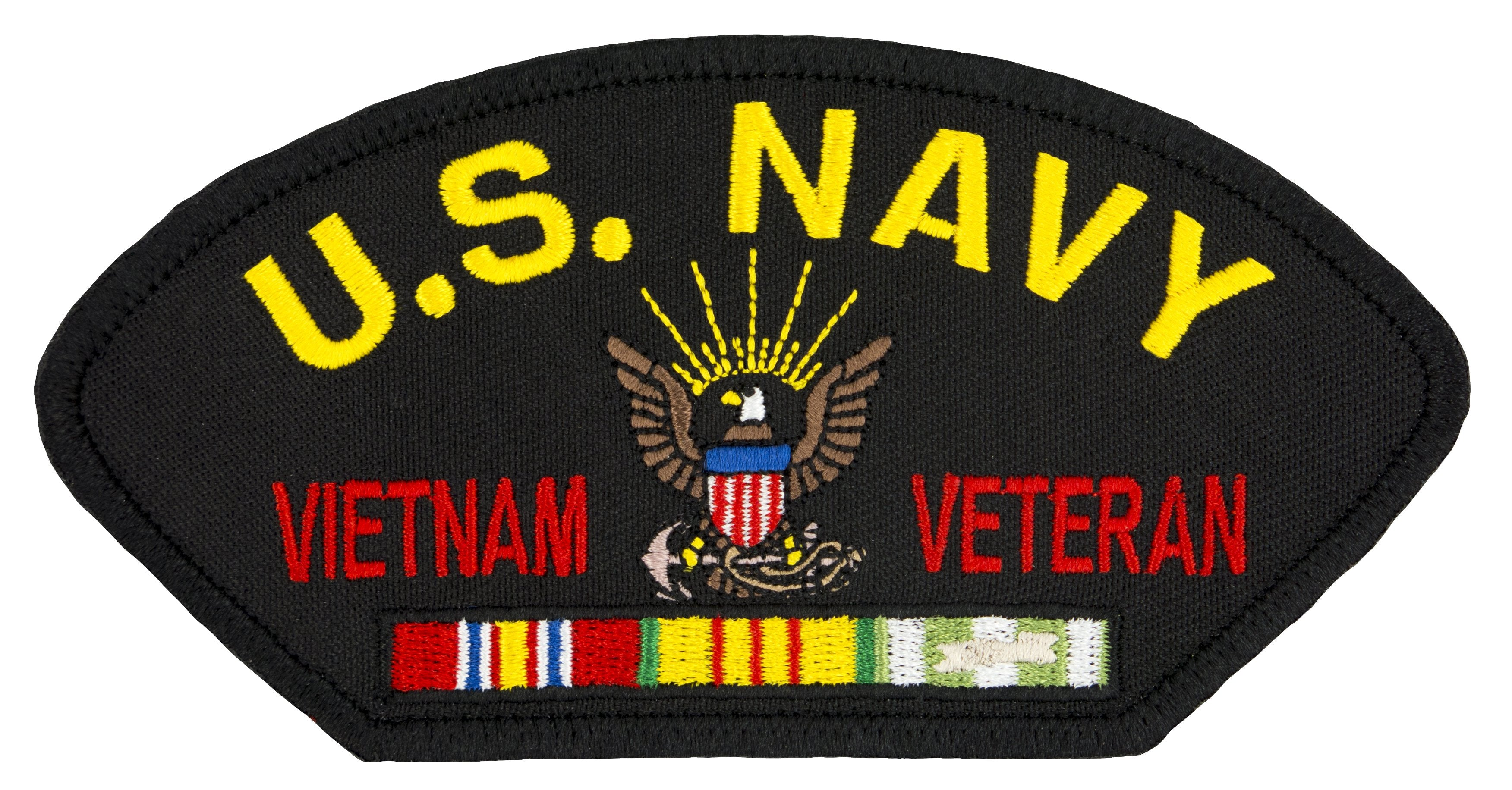 "US Navy Vietnam War Veteran Embroidered Patch 5 3/16"" x 2 5/8"""