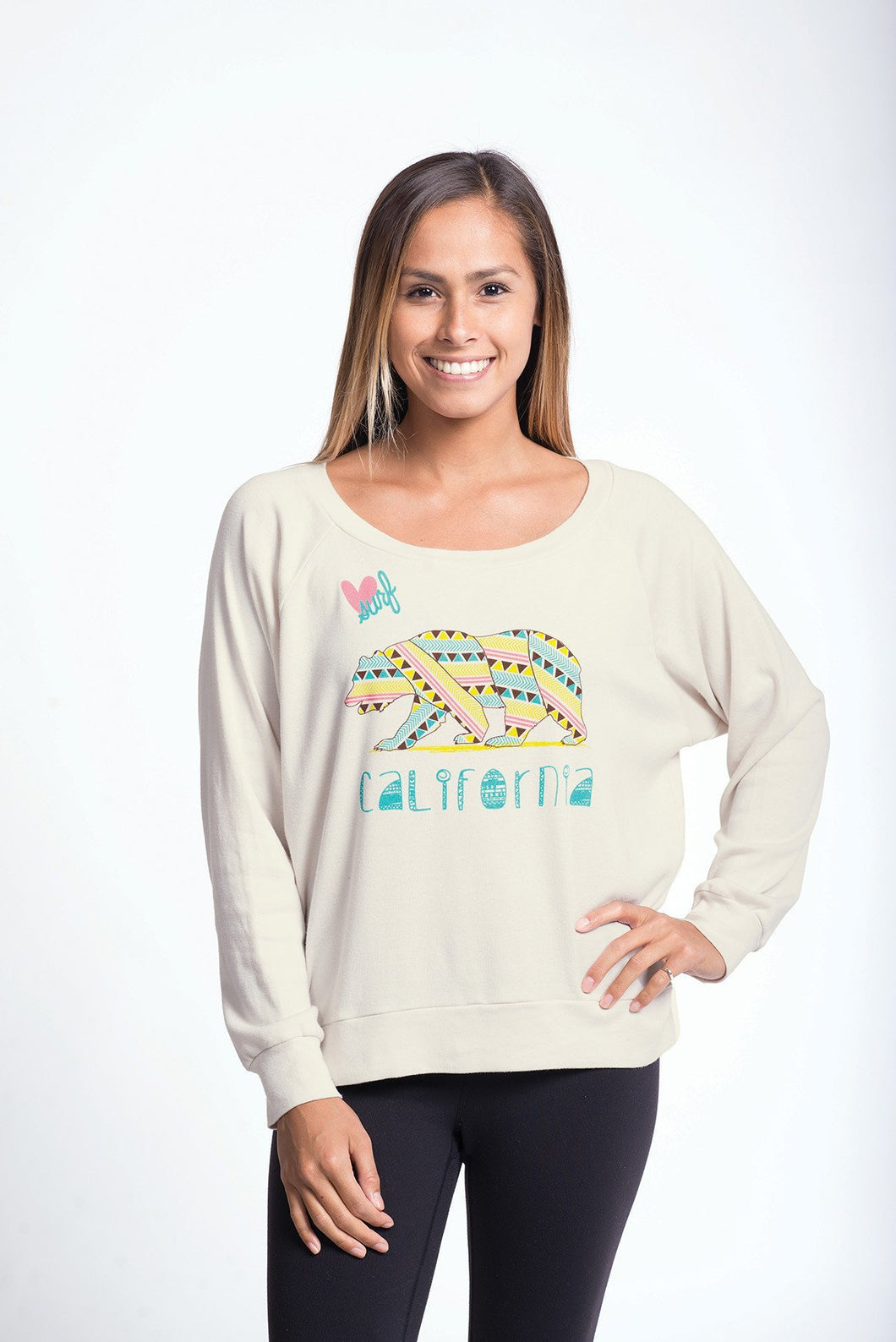 Luv Surf Calibear Pullover | Cream