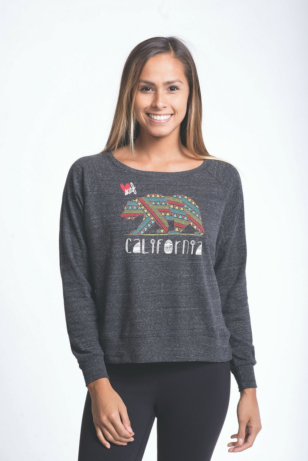 Luv Surf Calibear Pullover | Charcoal