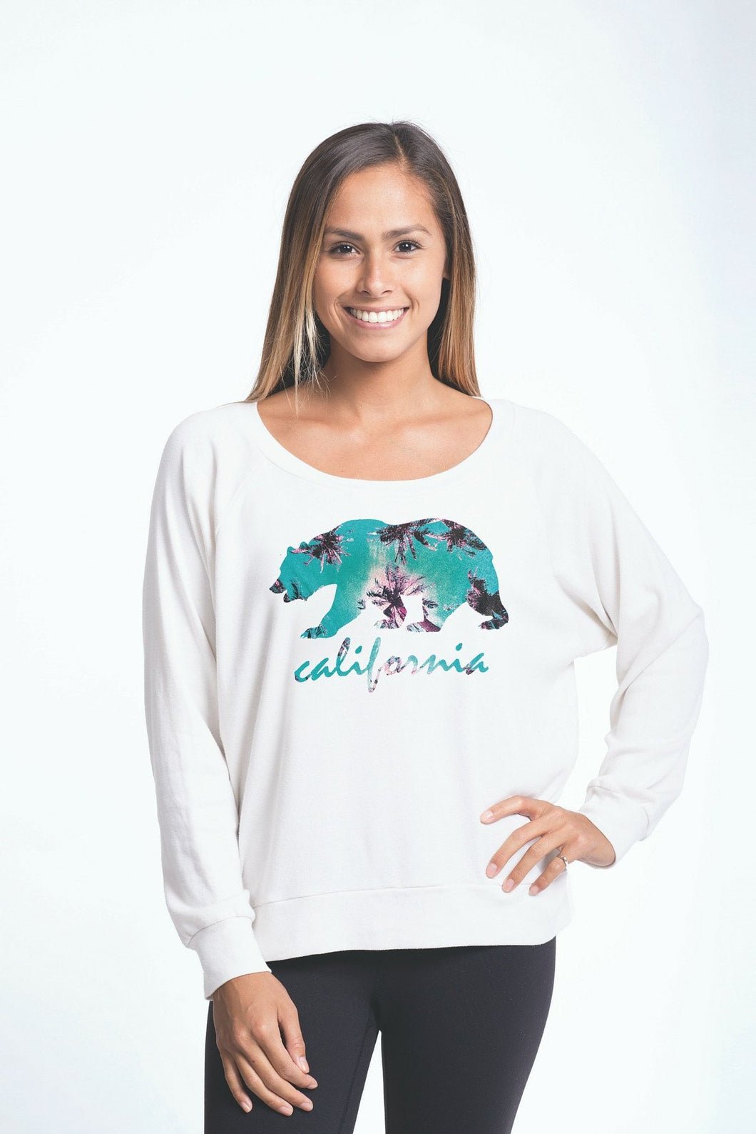 Luv Surf Tropical Calibear Pullover | White