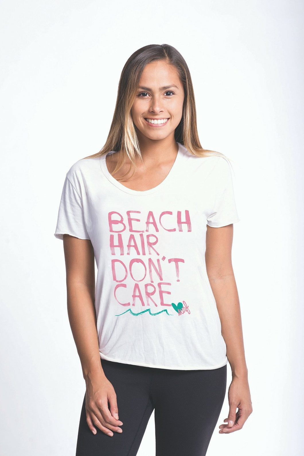 Luv Surf Beach Hair Tee | White