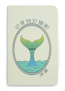 Luv Surf Mermaid Notebook