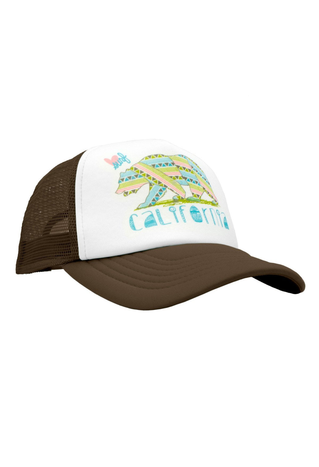 Luv Surf Calibear Trucker Hat | Brown