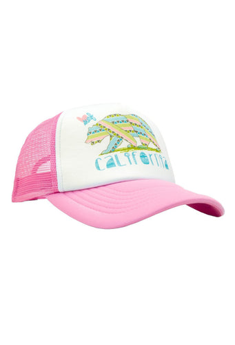 Luv Surf Calibear Trucker Hat | Pink
