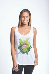 Luv Surf Tropical Flamingo Tank | White