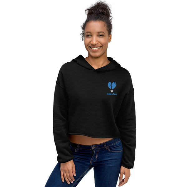 Women's Icy Heart Cropped Hoodie