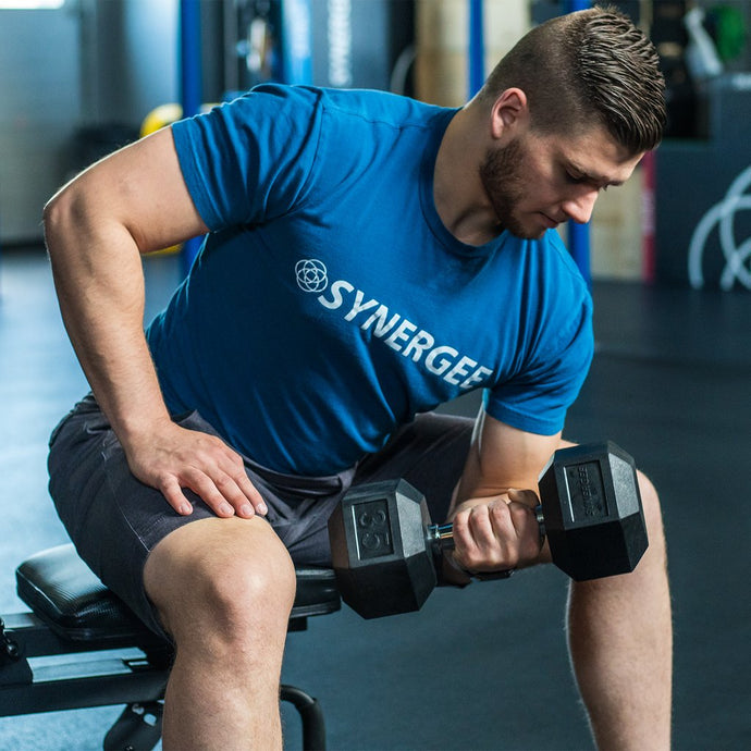 Synergee Rubber Hex Dumbbells