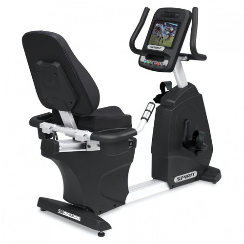 Spirit Fitness Semi-Recumbent Bike With Screen Mirroring 15.6