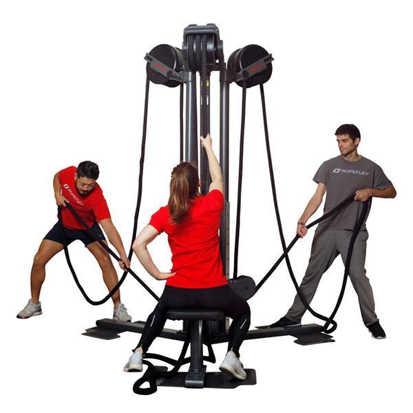 RopeFlex Indoor Rope Pulling Exercise RX2500 Tri-Station