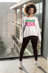 Soror Vice Pres. Crew (Pink and Green) - Women Only