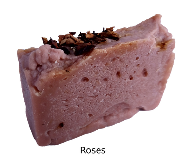 Rose soap benefits - anti-flammatory, hydrates and soothes skin.