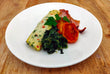 Egg white omelette with spinach, tomato & bacon