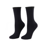 All Day Socks: women's fine crew black 2pk