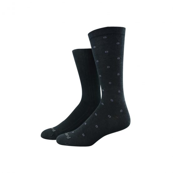 Pussyfoot Non Tight Bamboo and Cotton Socks Mens Black/Blue 2pk