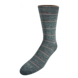 Pussyfoot Non Tight Striped Merino Wool Socks Mens Grey