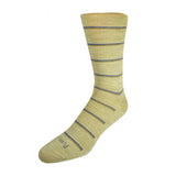 Pussyfoot Non Tight Striped Merino Wool Socks Mens Beige