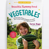 The Cover Of Beautiful Yummy Food: Vegetables|Interior Page Of The Book|Interior Page Of The Book