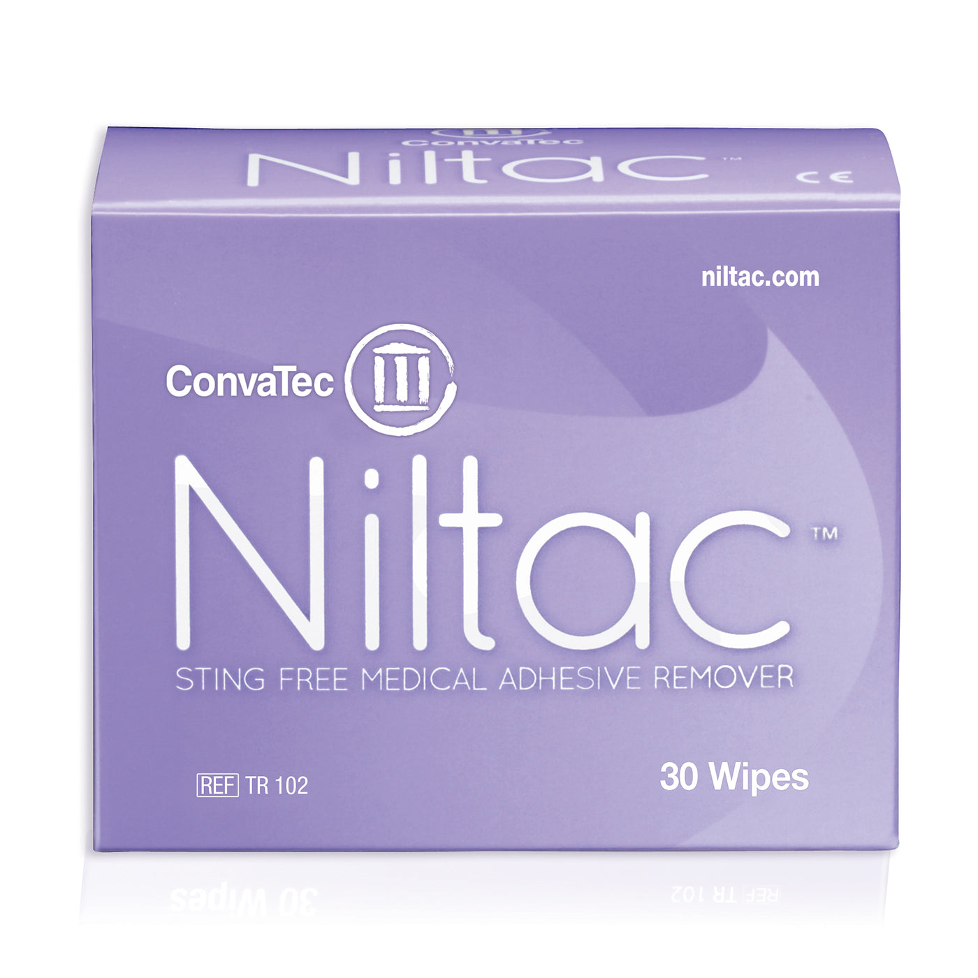 A 30PK Box Of ConvaTec Niltac Sting Free Medical Adhesive Remover Wipes